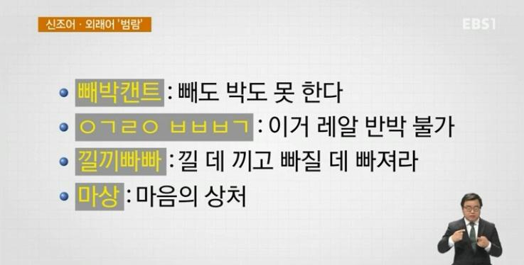 <하재근의 문화읽기> 우리말 파괴 어디까지‥신조어·외래어 '범람'