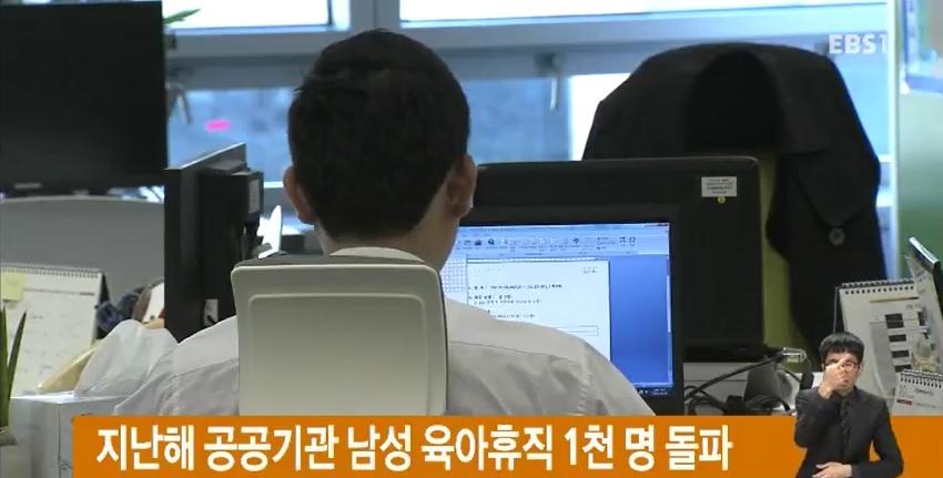 지난해 공공기관 남성 육아휴직 1천 명 돌파