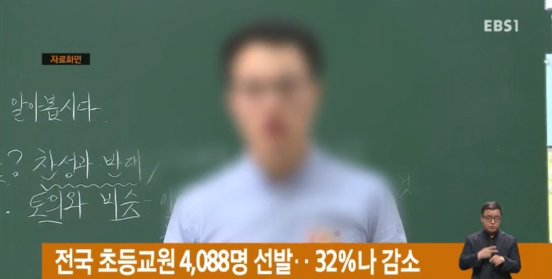 전국 초등교원 4,088명 선발‥32%나 감소
