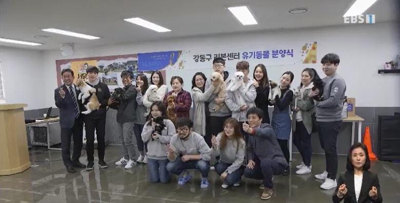 <교육현장 속으로> 강동리본센터 유기동물 분양식