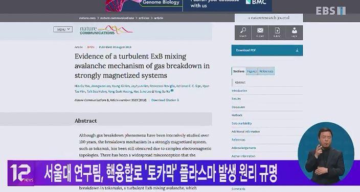 서울대 연구팀, 핵융합로 '토카막' 플라스마 발생 원리 규명