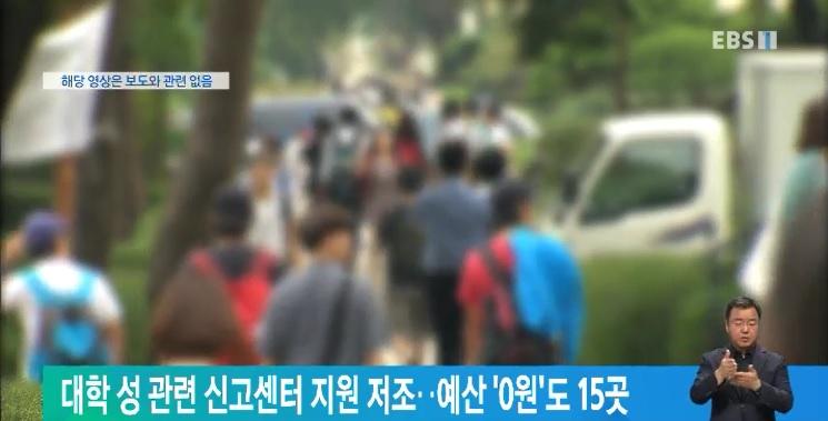 대학 성 관련 신고센터 지원 저조‥예산 '0원'도 15곳