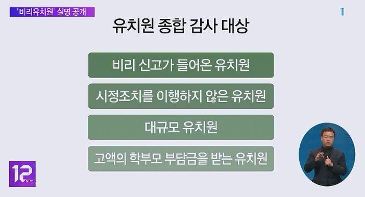유치원 입학 신청 앞두고, '비리유치원' 실명 공개