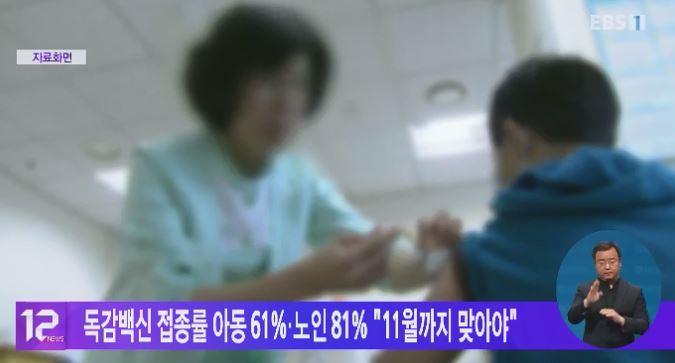 독감백신 접종률 아동 61%·노인81%