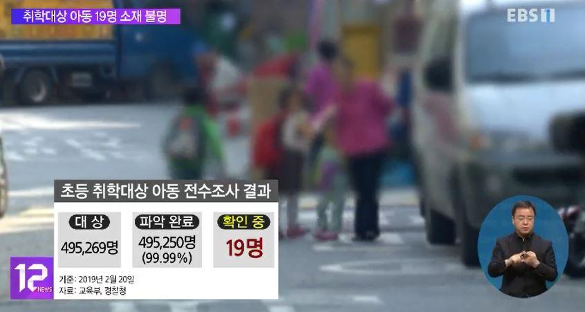 취학대상 아동 19명 소재 불명‥