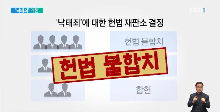 헌재 낙태죄 '위헌' 결정‥66년 만에 사라진다