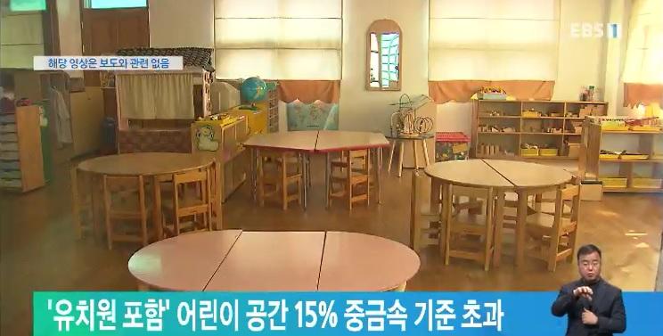 '유치원 포함' 어린이 공간 15% 중금속 기준 초과