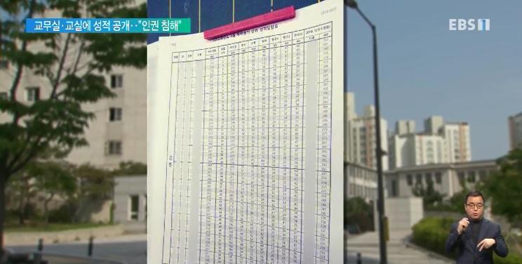 [단독] 서울 H고 성적 공개 논란‥