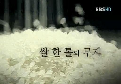 쌀 한 톨의 무게 1부