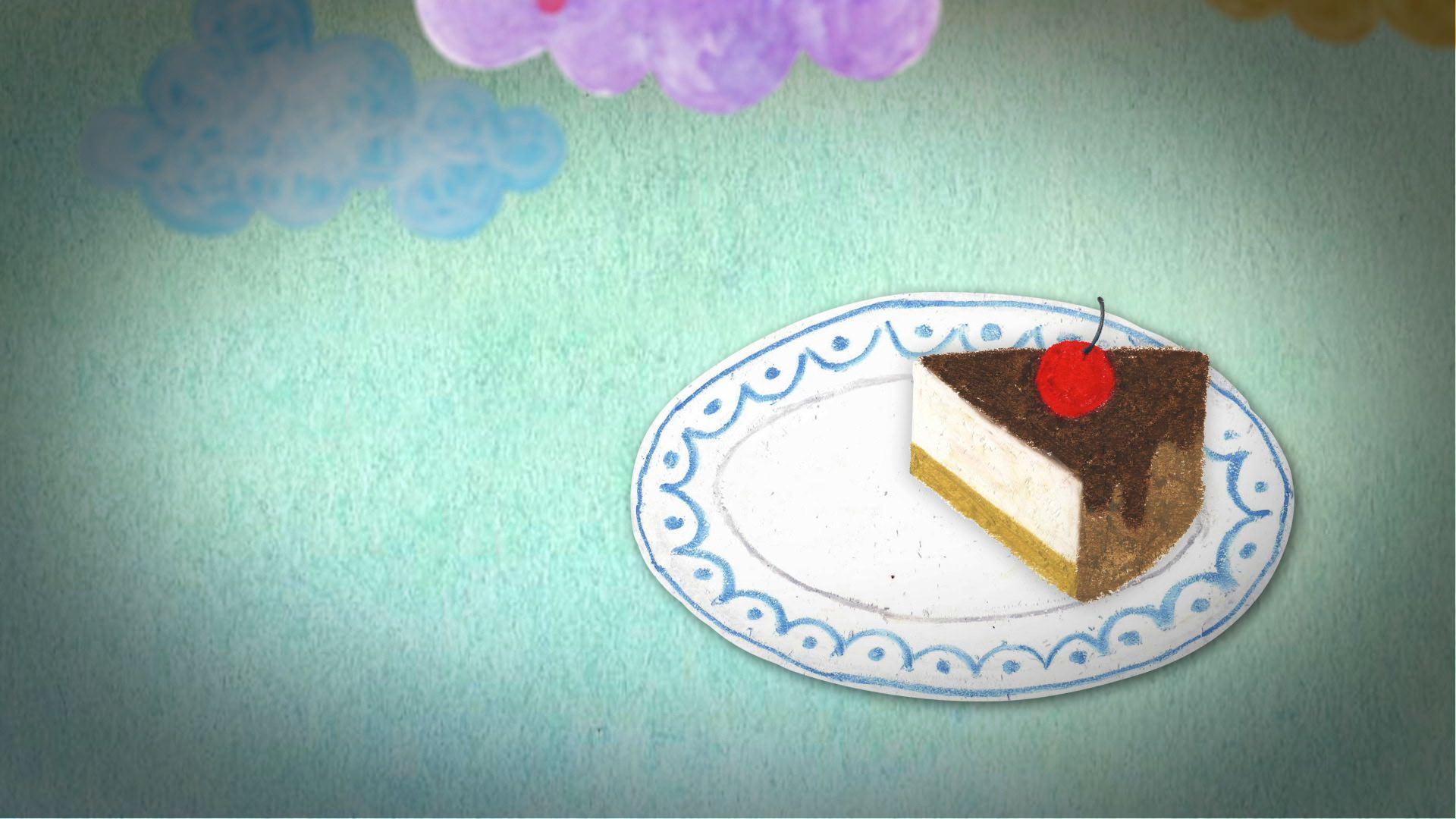 1/8 조각 케이크