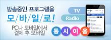 방송중인 TV, Radio 프로그램을 결제 후 모바일로 동시 이용
