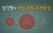 삼각형의 내심, 외심, 무게중심 살펴보기