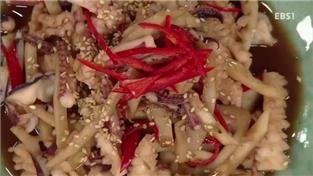 최고의 요리비결, 정계임의 오징어 죽순 조림과 김 쏙대기 무침
