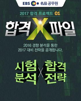 2017 공무원 대비 합격X파일