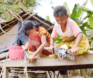 글로벌 프로젝트 나눔, 캄보디아, 버림받은 고아 자매