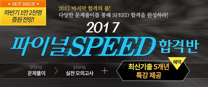 2017 파이널 스피드 합격반-ver.2