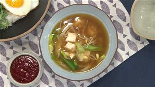 최고의 요리비결, 한명숙의 콩나물 된장국과 봄나물 청포묵비빔밥