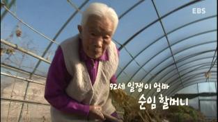 장수의 비밀, 92세 일쟁이 엄마, 순임 할머니