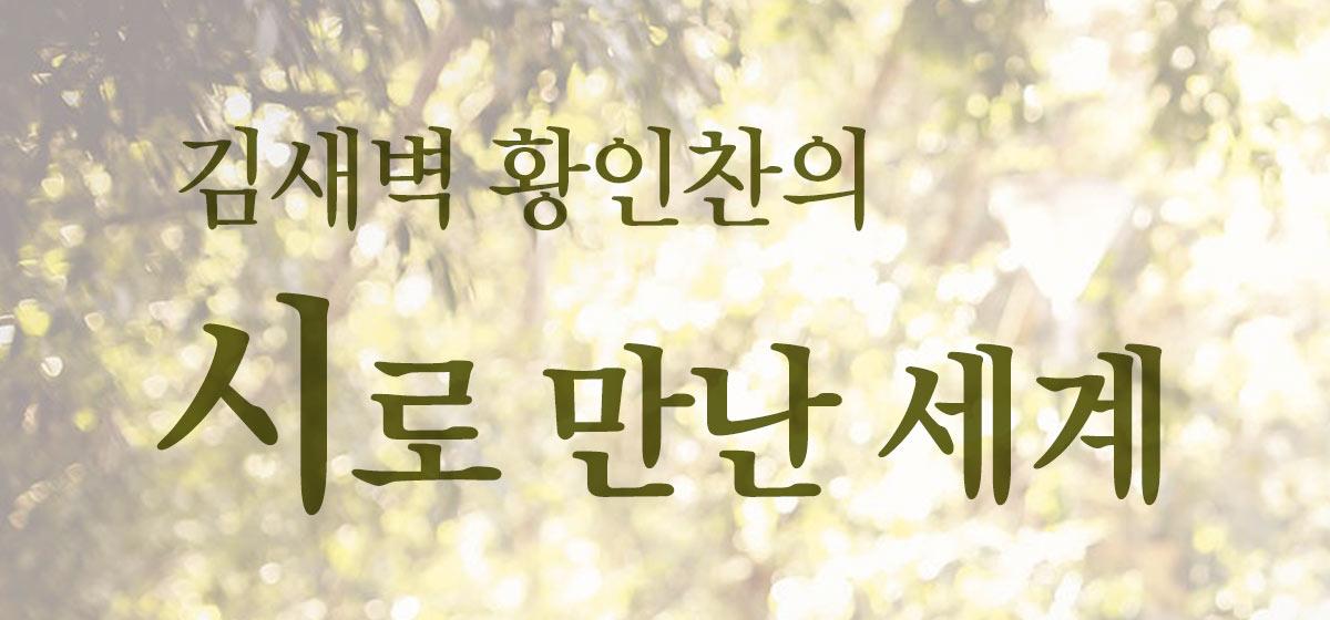 김새벽 황인찬의 시로 만난 세계