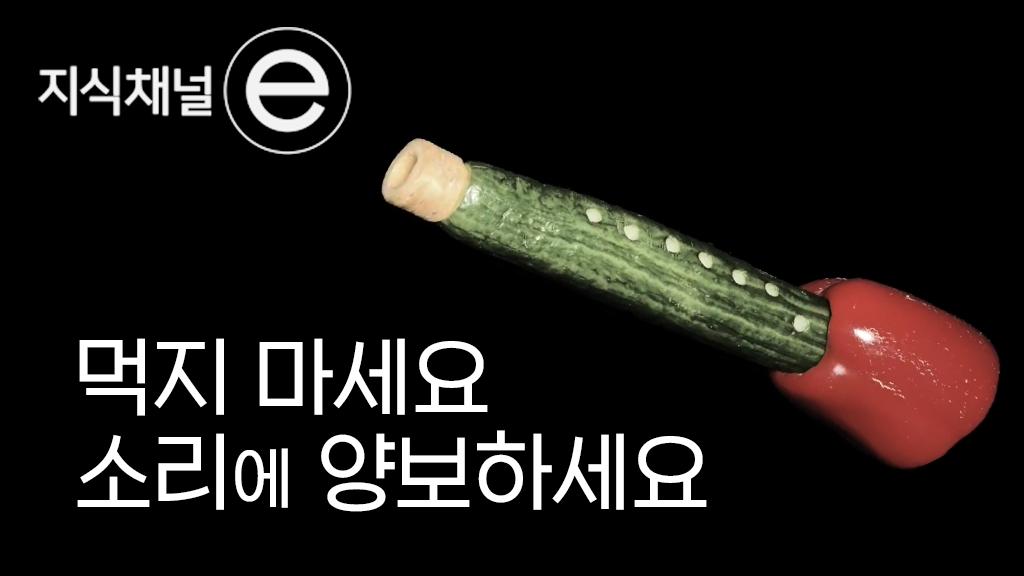 먹지 마세요. 연주 하세요.