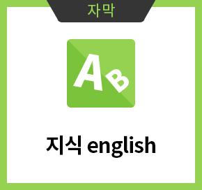 자막 : 지식 english